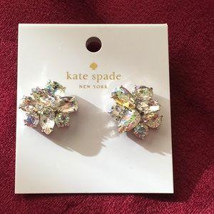 Kate Spade ♠️ White Patina Rhinestone Earrings